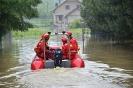 Akcja powodziowa Grupy Ratownictwa Wodno-Lodowego podczas powodzi w Skoczowie - 16.05.14r.