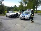 Kolizja drogowa Mnich ul.Topolowa/ul.Tuwima - 09.05.14r.
